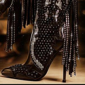 Bling & Fringe Stiletto Booties